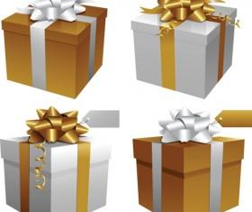 Exquisite Gift boxes design elements vector 05