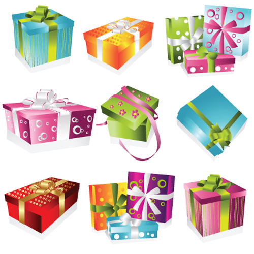 vivid colored gifts box vector graphics 03 free download
