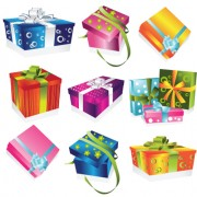 Link toVivid colored gifts box vector graphics 04