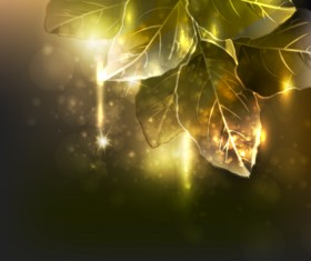 Elements of Glowing Flowers design vector 01