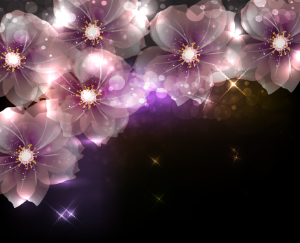 elements of glowing flowers - photo #3
