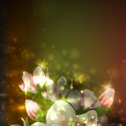 Link toElements of glowing flowers design vector 04