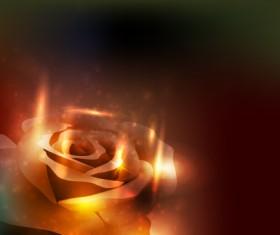 Elements of Glowing Flowers design vector 05