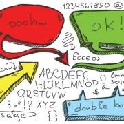 Link toSet of hand drawn speech bubbles vector 02
