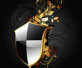 luxurious of Heraldic Shield design vector 02