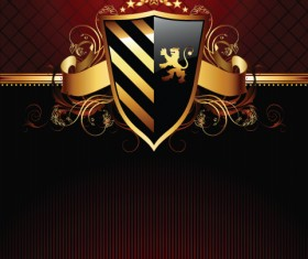 luxurious of Heraldic Shield design vector 03