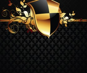 luxurious of Heraldic Shield design vector 04
