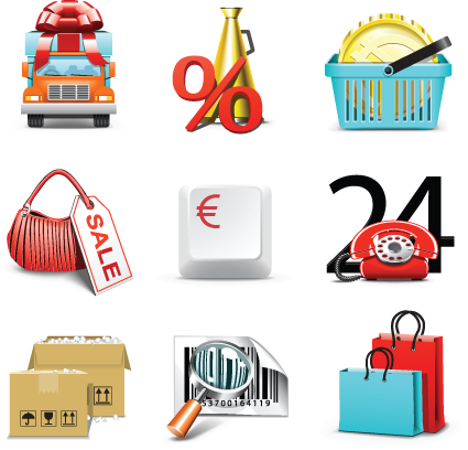 Set of Business Finance Icons vector 01