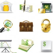 Link toSet of business finance icons vector 03