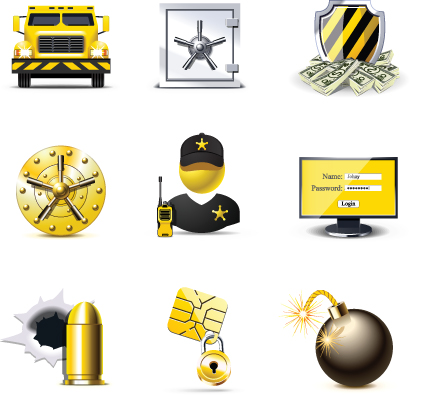 Set of Business Finance Icons vector 04