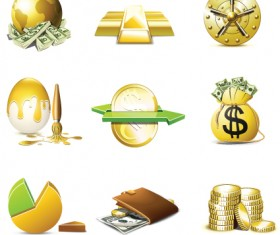 Set of Business Finance Icons vector 05