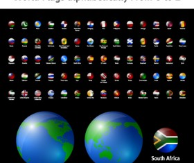 World Flags Icons vector set 02