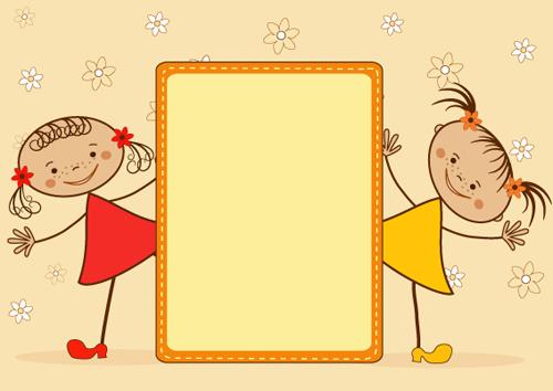 cartoon cute kids vector material 01 - Free Cartoon Download For Kids