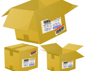 Set of Kraft Box design vector 01