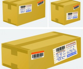 Set of Kraft Box design vector 02