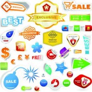 Link toDifferent supermarket labels and stickers design vector 01