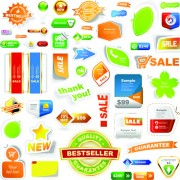 Link toDifferent supermarket labels and stickers design vector 02