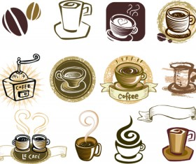 Vintage coffee Logo design vector material 01