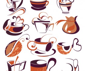 Vintage coffee Logo design vector material 02