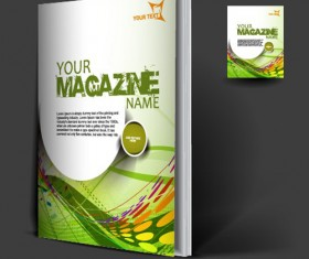Set of Modern magazine cover design vector 01