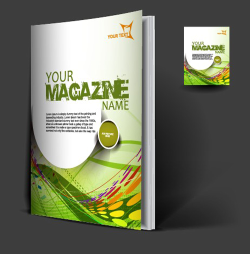 set of modern magazine cover design vector 01 free download