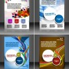 Set of Modern magazine cover design vector 02