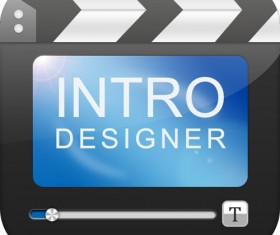 Movie intro design icon psd material