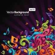 Link toColorful musical keys backgrounds vector 03