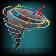 Link toColorful musical keys backgrounds vector 04