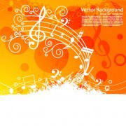 Link toSet of musical backgrounds vector graphic 04