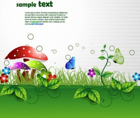 Shiny Nature Background vector graphics 01
