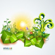 Link toShiny nature background vector graphics 02