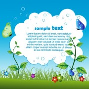 Link toShiny nature background vector graphics 04
