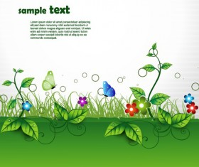 Shiny Nature Background vector graphics 05