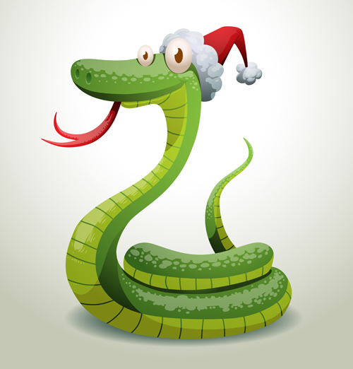 New Year Snake 2013 Design Vector Set 02