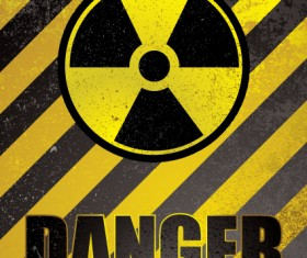 Garbage Danger Warning elements vector 01