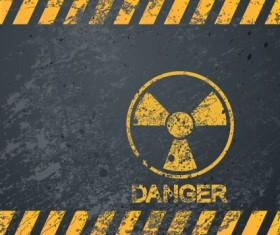 Garbage Danger Warning elements vector 04