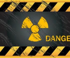 Garbage Danger Warning elements vector 05