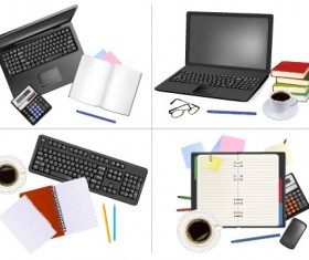 Set of Objects office vector graphics 01