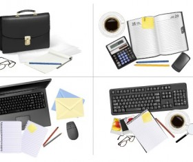 Set of Objects office vector graphics 03
