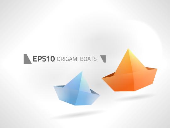 Different Origami art design vector 02