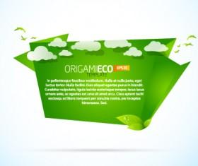Different Origami art design vector 10