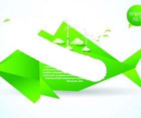 Different Origami art design vector 06