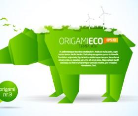Different Origami art design vector 07