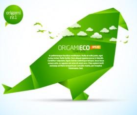 Different Origami art design vector 08