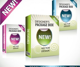New Product Packaging Boxes design vector 02
