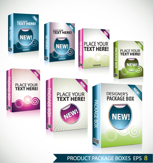 04 Boxes New Free Download Vector Product Packaging Design