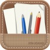 Pencil Case with paper psd icon