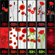 Link toVivid poppy flower cards vector 02