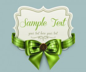 Pretty Bows Cards vector graphic 02